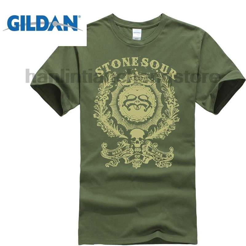 d83e8bd16 Stone Sour Made Of Scars Ornate Logo Black T Shirt New Official Corey  Taylor Men 2018