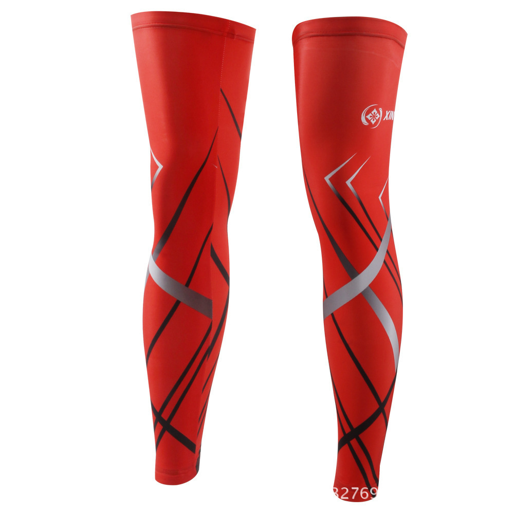 BOODUN Laser Red Riding Leg Set Cycling Outdoors Sunscreen Leg Set Bicycle Motion Defence Leggings Set