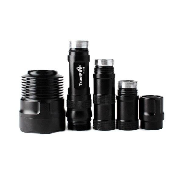 TrustFire TR-3T6 Cree XM-L T6 5 modes 2500LM mémoire 3 LED lampe de poche blanche-noir (2x18650/3x18650)