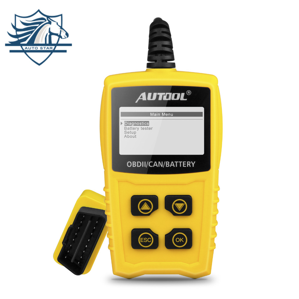 AUTOOL CS330 12V Code Reader Battery Tester Scan for OBDII/EOBD/CAN Automotive S