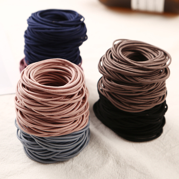 2018 New Fashion 100pcs/lot 5CM Size Thin Elastic Rubber Bands Korean Style Basic Girl Women Headwear Hair Accessories Tie Gum 1