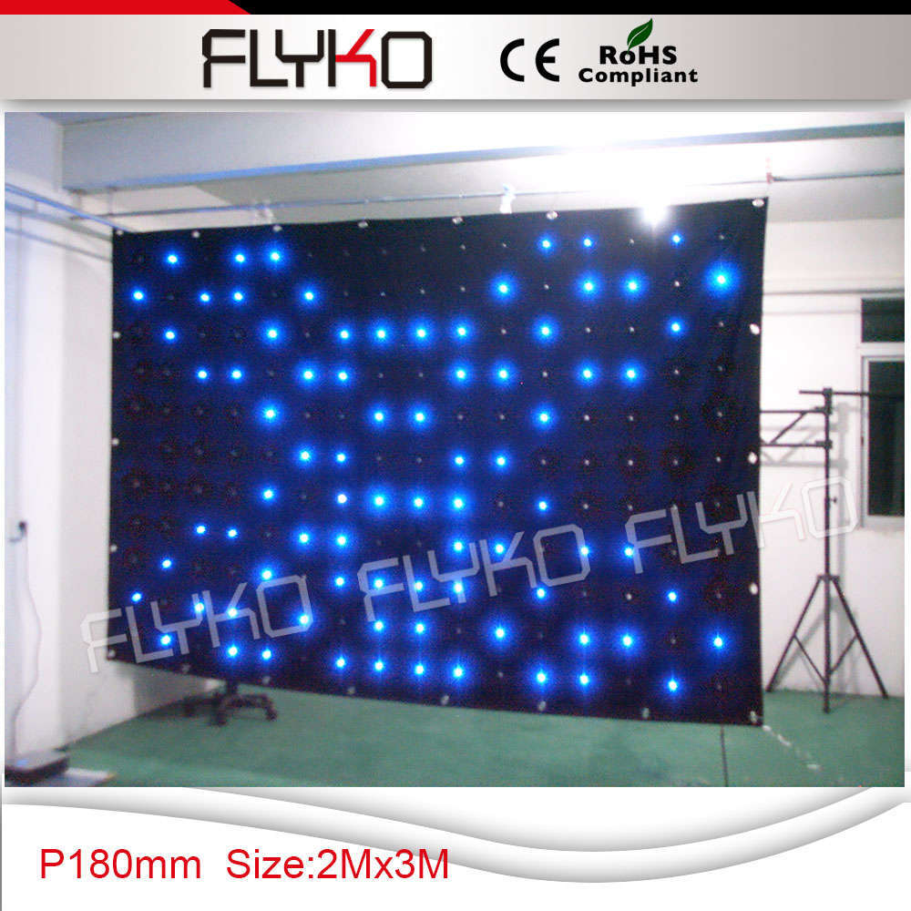 Cheap black stage curtains - P18 2x3m Stage Backdrop Cloth Black Velvet Fabric Led Video Curtain China Mainland