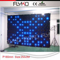 P18 2x3m stage backdrop cloth black velvet fabric LED video curtain