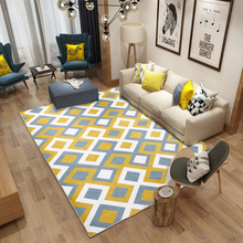 Factory Wholesale Minimalist Geometry Living Room Bedroom 3D Printed Carpet Nordic Pattern Floor Mat Hall 180X280cm