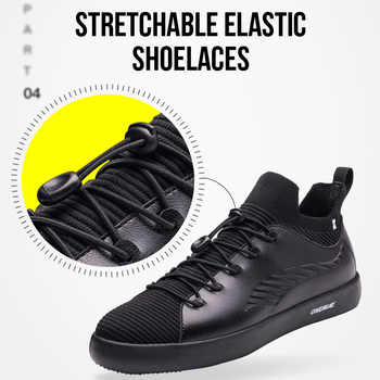 ONEMIX Skateboarding Shoes Sneakers For Men Soft Micro Fiber Leather Upper Elastic Outsole Women Shoes Walking EUR Size 35-45