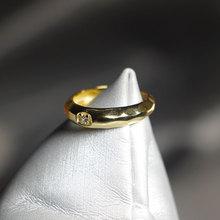 Elegant Quality 925 Rings Fashion Texture Zircon Ring S925 Plated 18K Gold Ring Women's Adjustable кольцо midi ring 2015 18k jz110