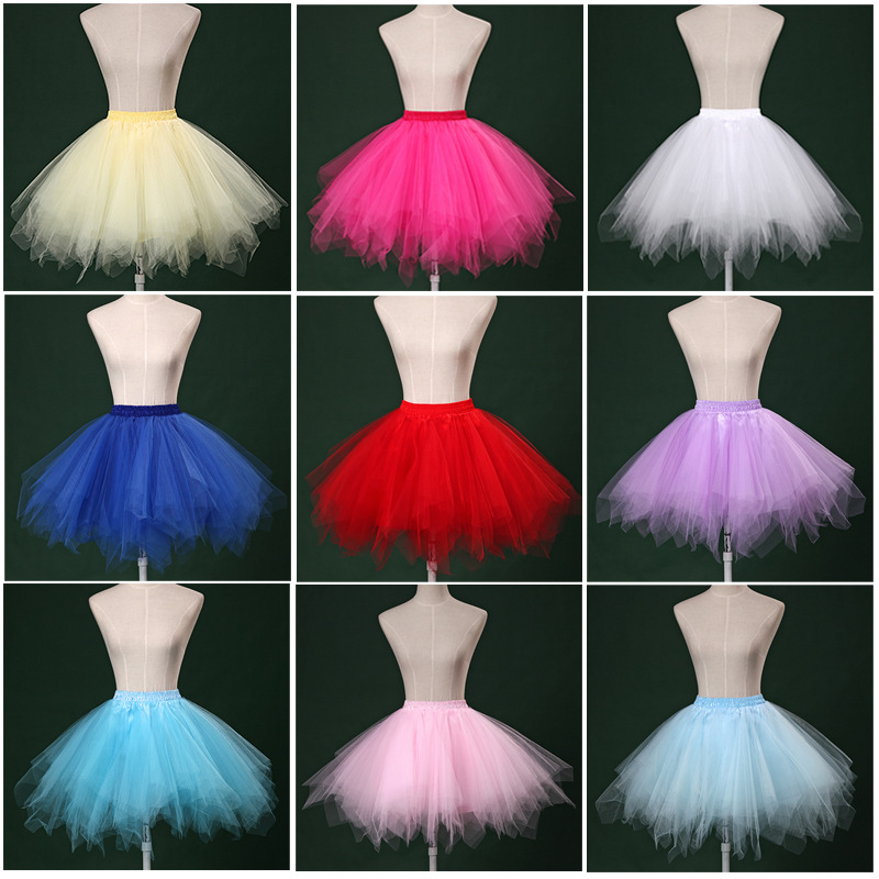 Red Tulle Petticoat for Wedding Dress