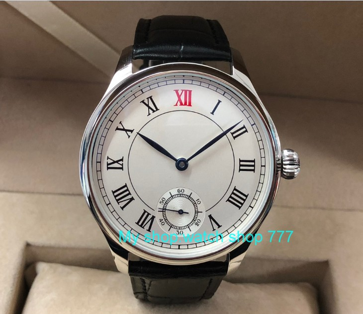 44mm parnis white dial Asian 6498 17 jewels Mechanical Hand Wind movement mens watch Roman numerals Mechanical watches pa49-844mm parnis white dial Asian 6498 17 jewels Mechanical Hand Wind movement mens watch Roman numerals Mechanical watches pa49-8