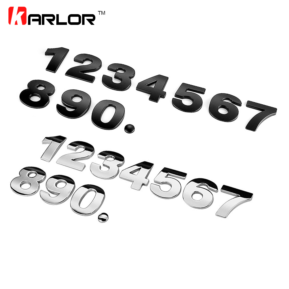 45mm 0-9 3D Metal House Door Auto Car Address Number Digits Numeral Plate Plaque Sign Room Gate Badge Sticker With Self-adhesive door sign plate indicator for toilet rest room washroom quality acrylic creative design women man 3d 10x24cm customized