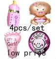 Горячая ангел девочка шар baby shower/шары фольги baby foot balao для новорожденных партия декор 4 шт./компл.