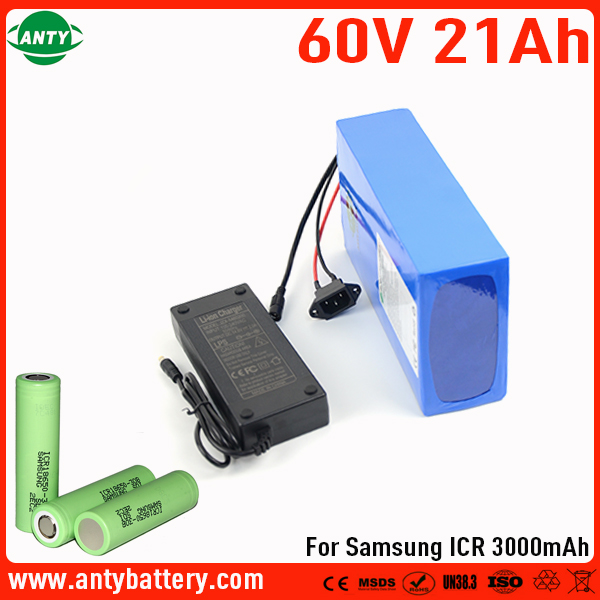 Deep Cycle 60V 21Ah Battery For Samsung 30B Cell Lithium Battery 60v with 2A Charger 30A BMS E-Bike Battery 60v Free Shipping 30a 3s polymer lithium battery cell charger protection board pcb 18650 li ion lithium battery charging module 12 8 16v