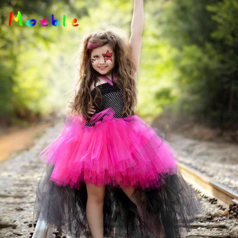 279f3adc5a Kids Dresses For Girls Girl Halloween Tutu Dress Kids Black Sleeveless Party  Ball Gown Children Cosplay