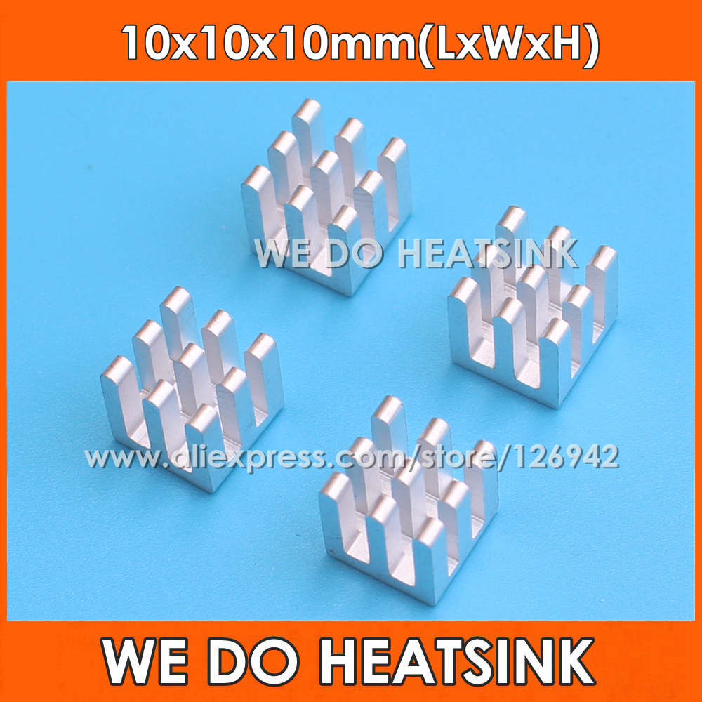 WE DO HEATSINK Silver 10x10x10mm Aluminum Heat sink IC Memory Chip Heatsink Cooling Cooler 1u server computer copper radiator cooler cooling heatsink for intel lga 2011 active cooling