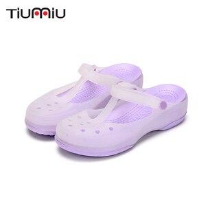 Image 1 - 2019 Nurse Hole Shoes Medical Shoes Summer Women Female Hospital Comfortable Soft Bottom Anti Slip Doctor Nurse Shoes Work Shoes