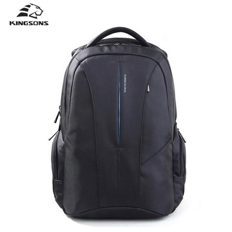 Kingsons Brand Backpack Men Bag 15.6 inch Laptop Large Capacity Multifunction Fallow Backpack Anti-Theft Waterproof School Bag