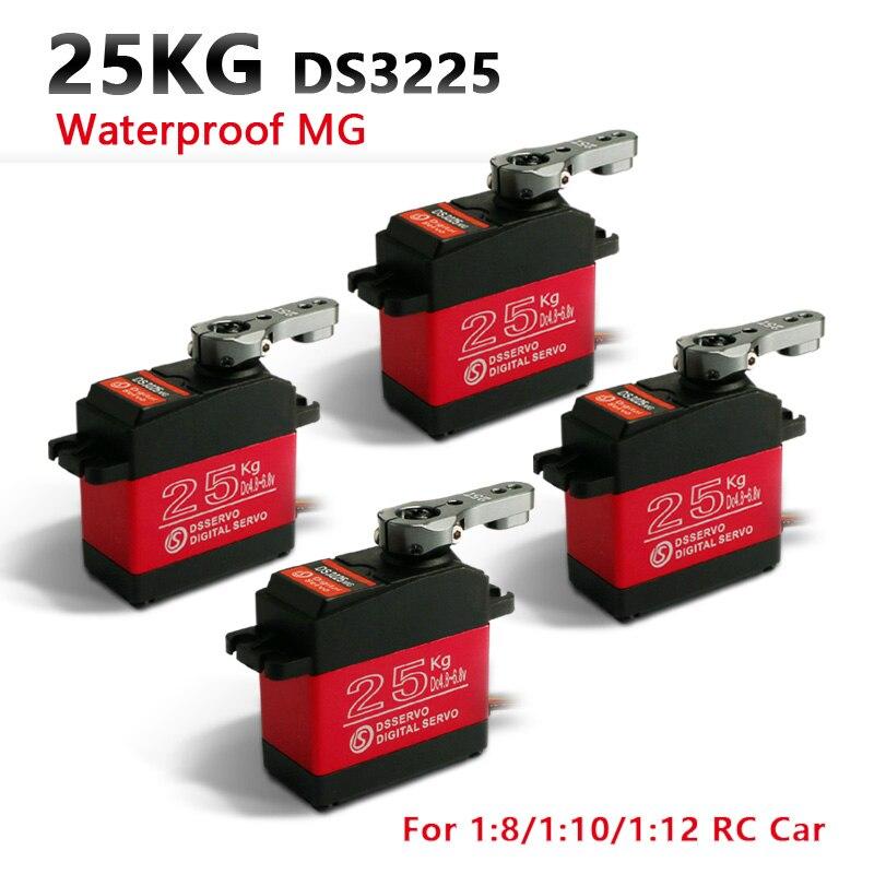 4XDS3225 mise à jour servo 25 kg équipement en métal complet servo numérique baja servo étanche pour voitures baja + livraison gratuite
