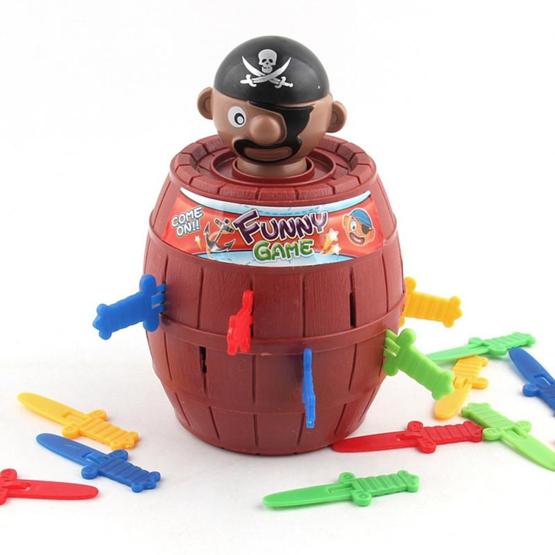 Hot Sale Kids Funny Gadget Novelty Tricky Pirate Barrel Game For Children Lucky Stab Pop Up Toy Practical Jokes