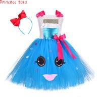 Princess Tutu Charlie And The Chocolate Factory Cartoon Girl Tutu Dress Mid Calf Birthday Party Cosplay Costume With Headband