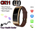 Ck11 pulseira banda pulseira relógio inteligente monitor de pressão arterial e freqüência cardíaca pedômetro aptidão para android phone xiaomi iphone ios