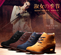 Winter with the new women's leather strap with high-help Martin boots solid color boots