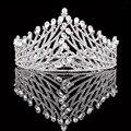 Новая Мода Роскошный Кристалл Стразы, Свадебные Венцы Water Drop Дизайн Тиара Принцессы Короны Для Девочек HG0052