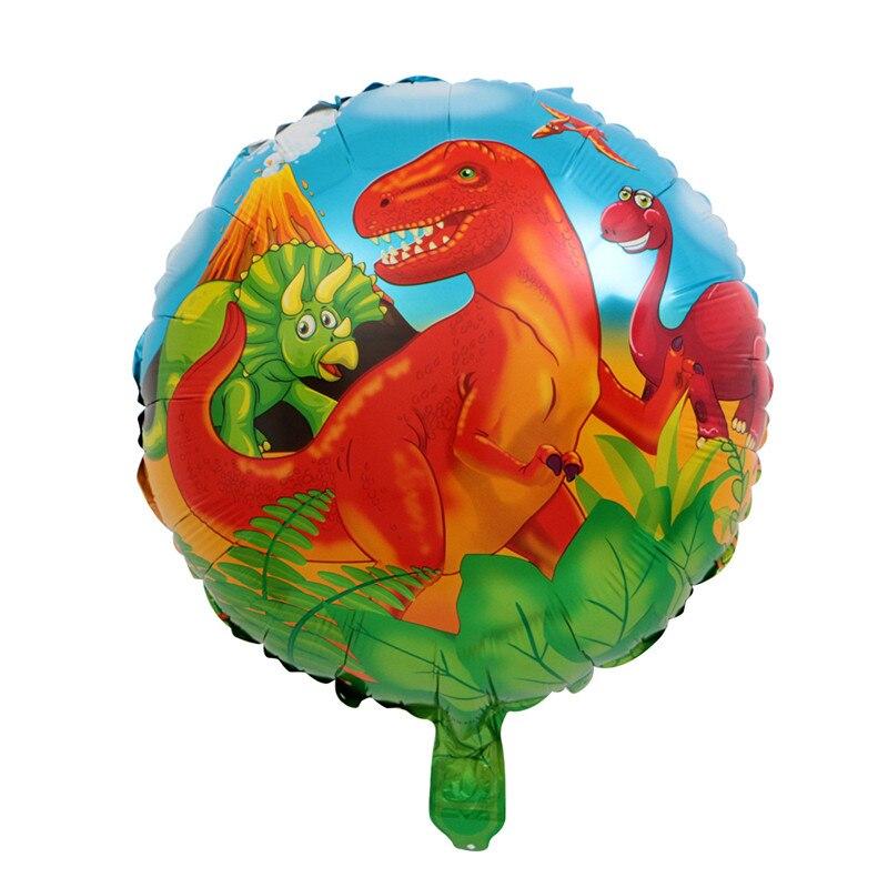 50pcs 18inch Dinosaur balloon foil balloons Children Birthday Party Decoration Air Globos Jurassic Tyrannosaurus Rex kids toy