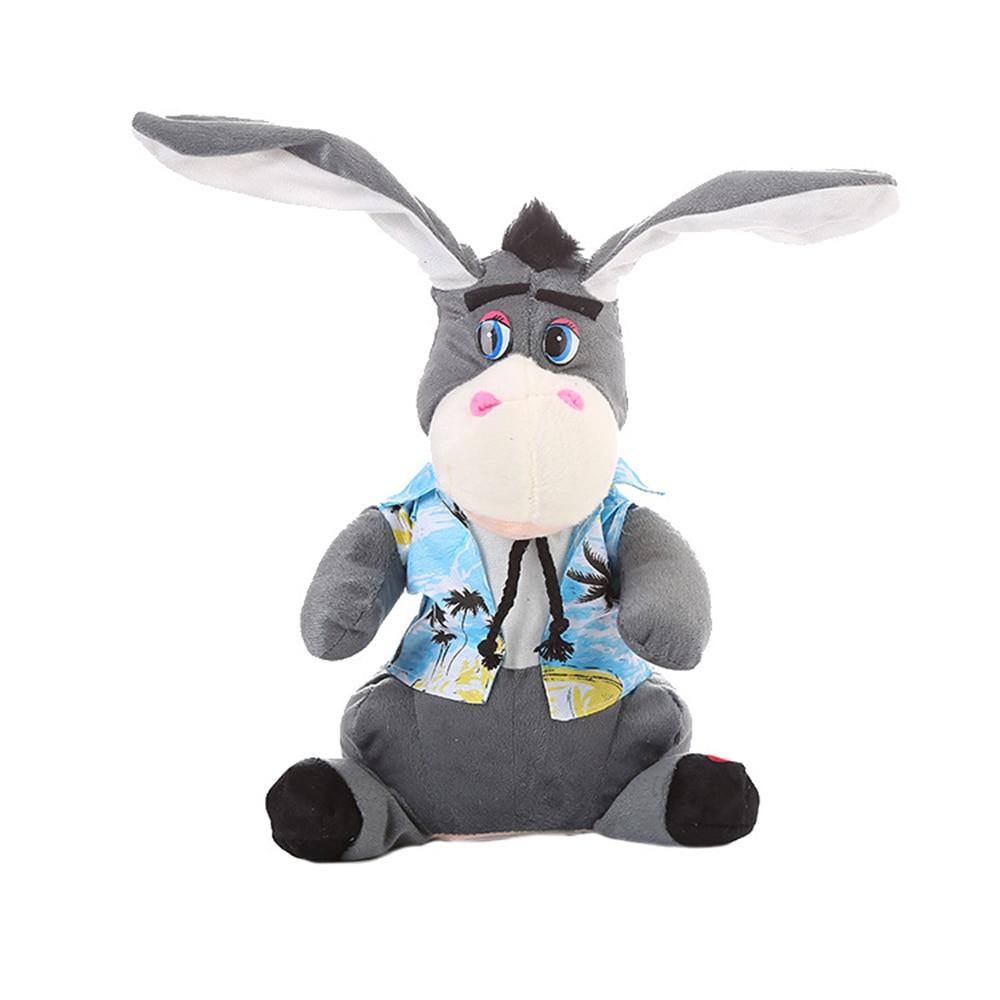 Веселая электрическая игрушечная кукла развлекательный танцующий Кролик для вечерние Прямая - Цвет: gray
