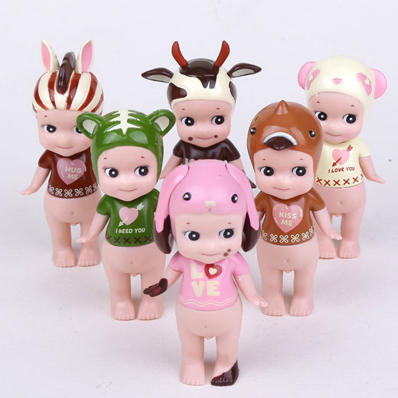 Sonny Angel Mini Kewpie Doll PVC Action Figure Toy Farm Animals Chocolate Sonny Angel Toys Collectible Model Gift kids Toys N061 neca 7 god of war kratos action figure pvc doll model collectible toy gift