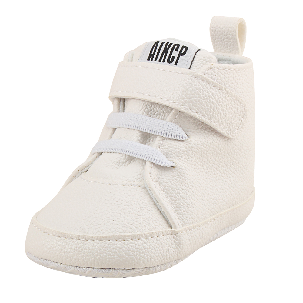 Delebao High State Department With Magic Stickers Leather Baby Shoes 2018 Sleek Sneakers Fashion First Walkers