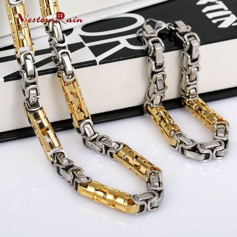 Fashion Gold Silve Mix Necklace Men Chain Bracelet America Hip Hop ...