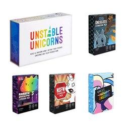 Unstable Unicorns Dragons Expansion Pack NSFW Expansion Pack Радуга апокалипсиса коллекция играть весело для детей взрослых гаджеты