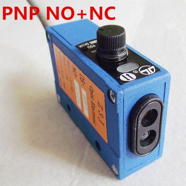Sensore fotoelettrico per il sacchetto macchine per la produzione di, PNP segnale, 50 centimetri di distanza di rilevamento regolabile sensore a raggi infrarossi