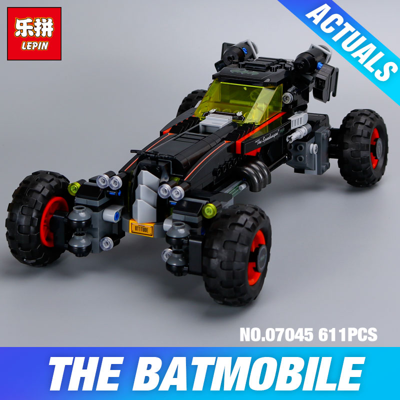 New 559Pcs Lepin 07045 Genuine Superhero Movie Series The Batman Robbin`s Mobile Set Building Blocks Bricks Toys DIY 70905 Gift gonlei new 610pcs 10634 batman movie the batmobile building blocks set diy bricks toys gift for children compatible lepin 70905