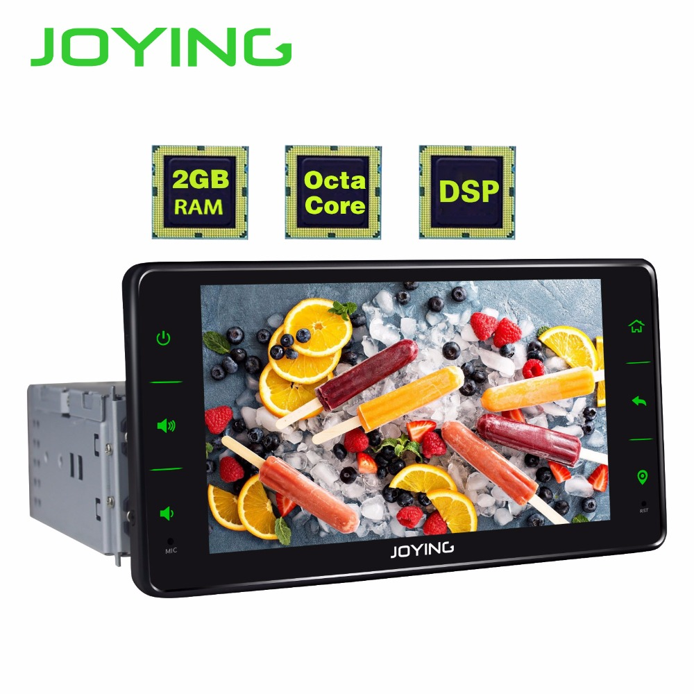 JOYING single Din car radio player Octa Core Android 8.1 6.2 inch Car Multimedia player universal stereo with DSP SWC GPS Navi