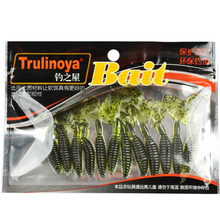 Trulinoya 36Pcs 6cm2.1g Soft Baits Plastic Fishing Lure Pesca Isca Artificial Protein Worm Grub Leurre Souple Carp Fishing Lures