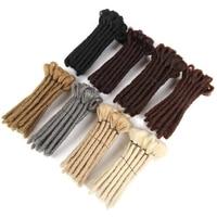 SAMBRAID дреды Короткие ручной работы дреды 15 см наращивание черных волос регги волосы хип-хоп стиль синтетический плетение волос для мужчин