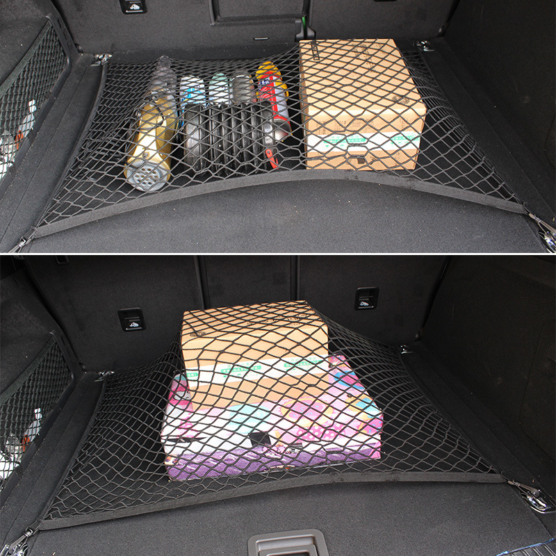 Funduoo For Jeep Renegade 2015 2016 2017 2018 Car Trunk Luggage Storage Cargo Organiser Elastic Mesh Net Styling Accessories