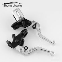 цена на Brake Clutch Pump Lever Motorcycle Hydraulic Master Cylinder Accessories 7/8 12.7mm Piston CNC for Honda Yamaha Motorcycle