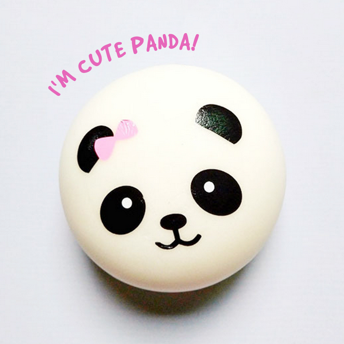 10/7/4cm Squishy Toy Soft Slow Rising Jumbo Panda Face Bread Squeeze Kid Fun Hobby Stress Reliever Deco R Phone Strap Gift J11