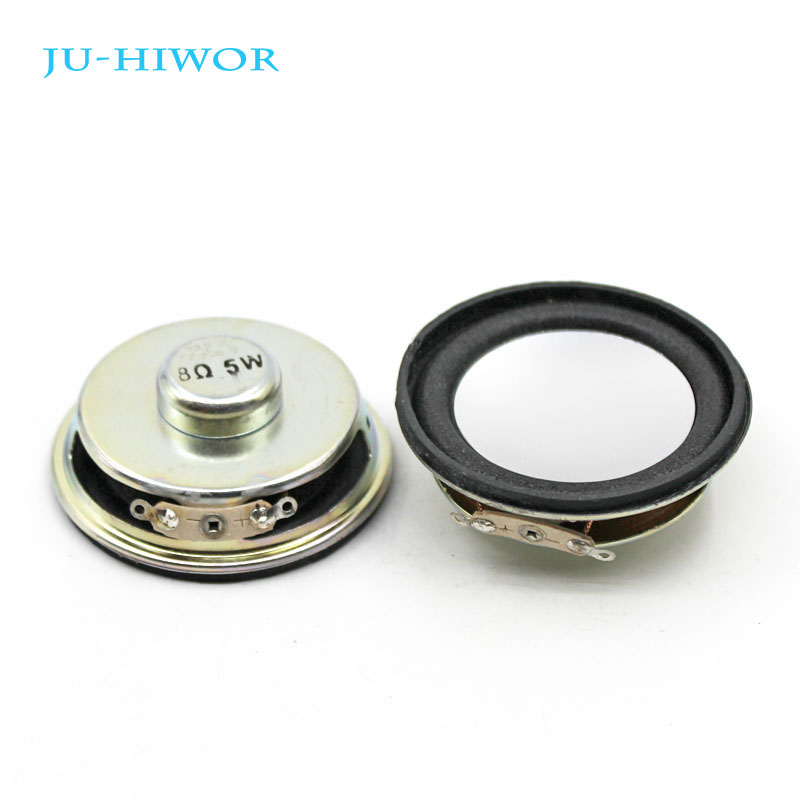 2pcs Acoustic Loudspeaker 8 Ohm 5W 50MM Speaker Internal Magnetic 13 Core 18MM Magnetic 18MM Thickness