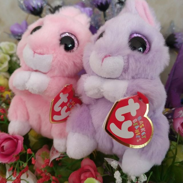 23d1a9e2a6d jasper pink bunny april bunny TY BEANIE Babies 10CM Plush Toys Stuffed  animals children toy SOFT