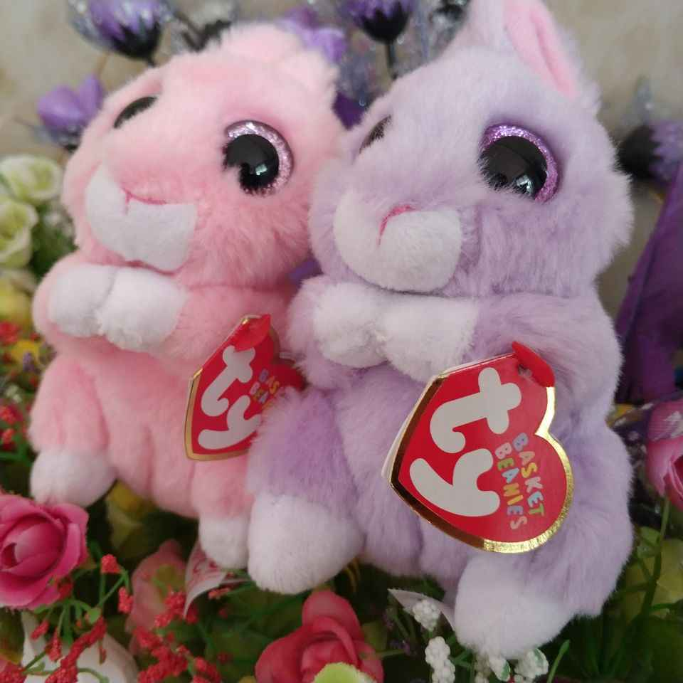 jasper pink bunny april bunny TY BEANIE Babies 10CM Plush Toys Stuffed  animals children toy SOFT 8a3673bd43cf
