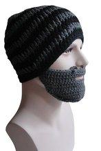 funny costume Crochet Beard Hat Mask Ski Cap Unisex Mustache Warmer Winter handmade Ski Beanies