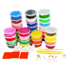 24 Цветов * Глины 12 Цветов * Пена Playdough детская Развивающие Игрушки Play Doh DiY Handgum Умный Пластилин Fimo Полимерная