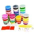 24 colores * arcilla + 12 colores * espuma de juguetes educativos para niños play doh plastilina diy handgum plastilina inteligente fimo polymer