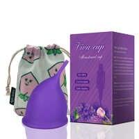 Copa Menstrual de silicona de grado médico de nuevo diseño para mujeres copa de vagina reutilizable de silicona medica Colegio menstrual para el cuidado de la salud