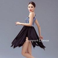 Bunte Pailletten Schulter Latin Kleid Kinder Erwachsene Quaste Tanzen Kostüm C265