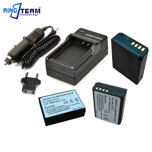 5 In 1 3x Lp E10 Battery 1x Charger Car Adapter For Canon T3 T5 T6 Eos 1100d 1200d 1300d 1500d 3000d 4000d X50 Cameras