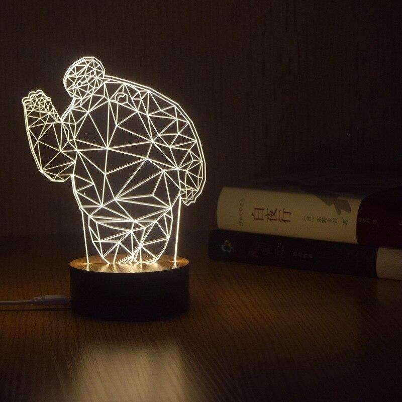 Baymax 3D LED Night Light Touch Switch Acrylic Nightlight Novelty Kids living room Lighting Table lamp Home Decor Doraemon