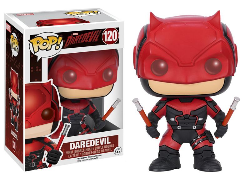 Funko pop Official Marvel's TV: Daredevil - Daredevil Red Suit Vinyl Action Figure Collectible Model Toy with Original Box  funko pop official spider man homecoming spiderman new suit vinyl action figure collectible model toy with original box